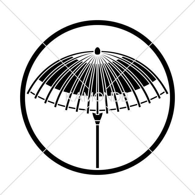 糸輪に蛇目傘