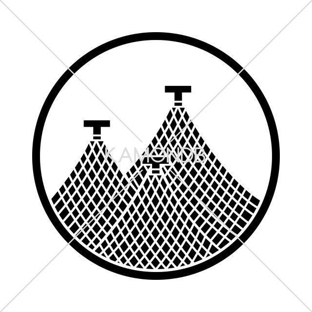 糸輪に三つ干網(2)