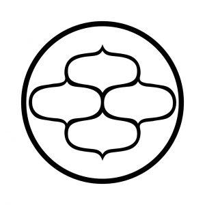 糸輪に四つ網目