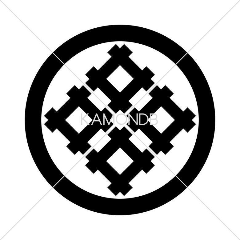 丸に角立て四つ井筒