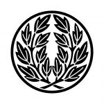糸輪に違い葉牡丹