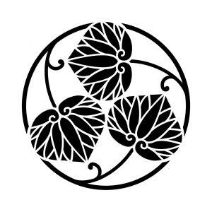 蔓三つ葵の丸