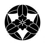 九枚笹敷に花菱