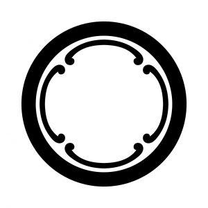 丸に四つ鐶(1)