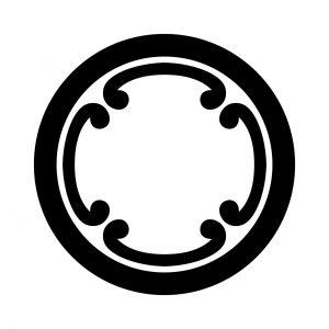 丸に四つ鐶(2)