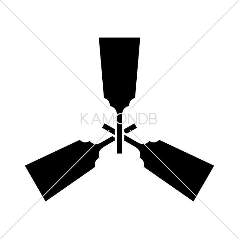 三つ羽子板