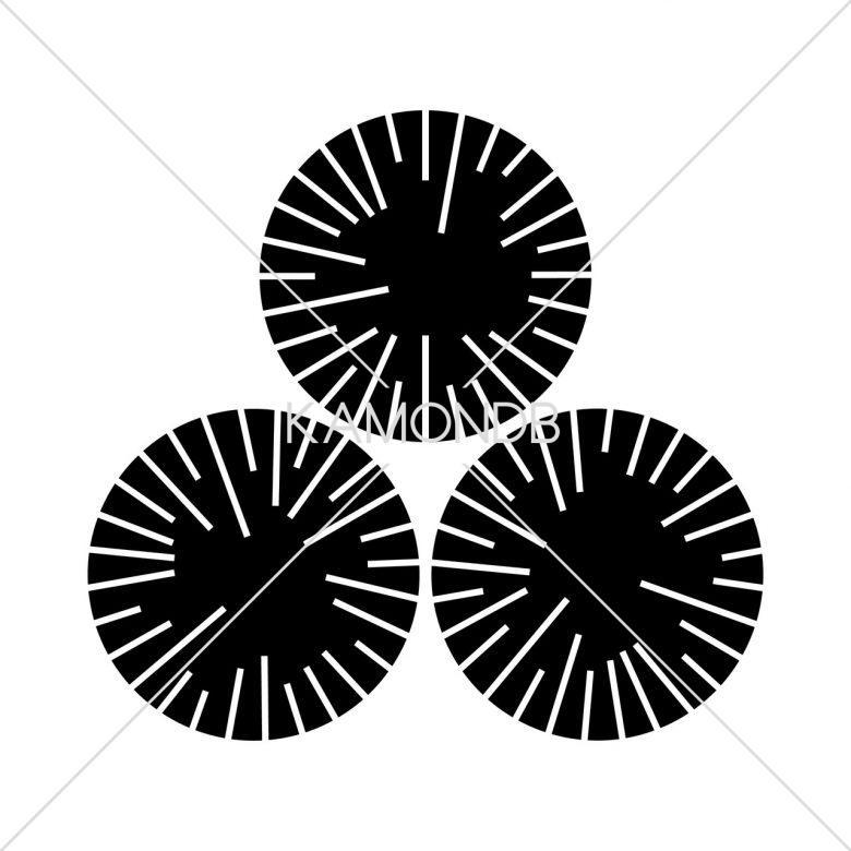 三つ盛炭の切り口