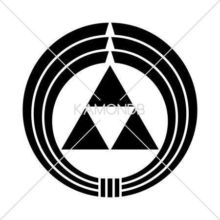 熨斗輪に三つ鱗