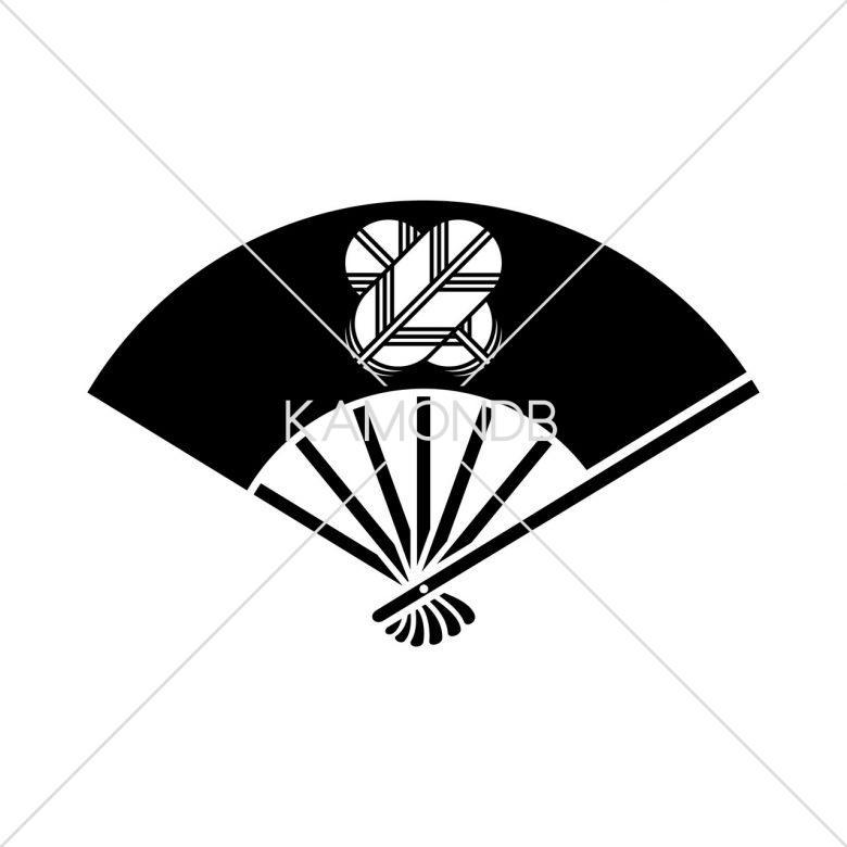 七本骨扇に違い鷹の羽