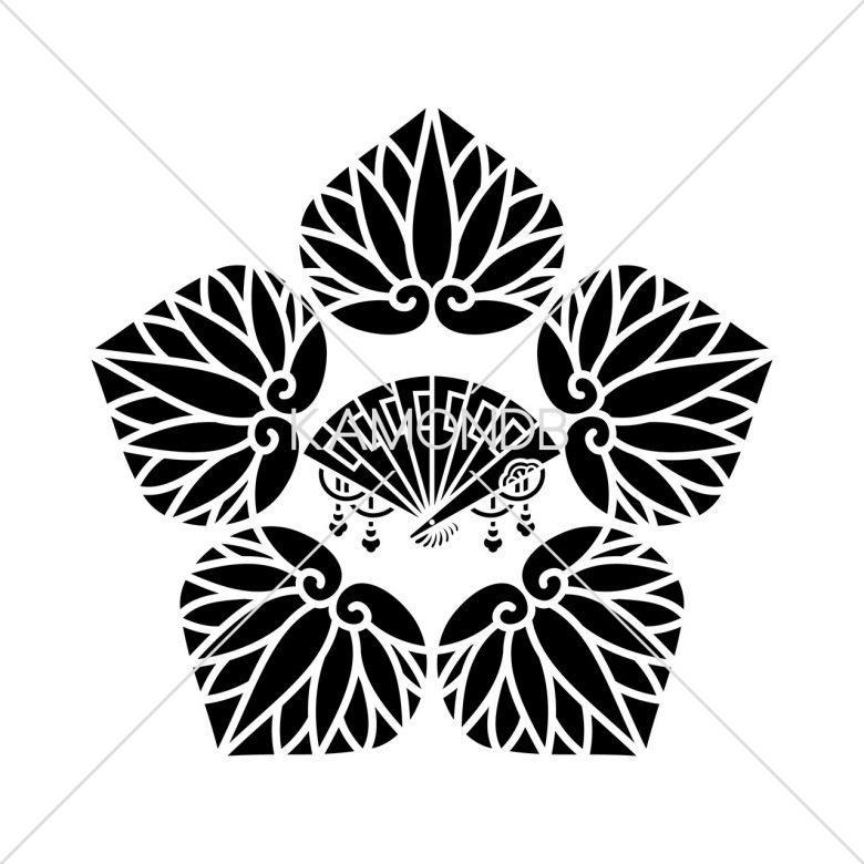 五つ葵に檜扇