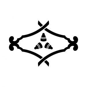 琴柱菱に三つ琴の爪