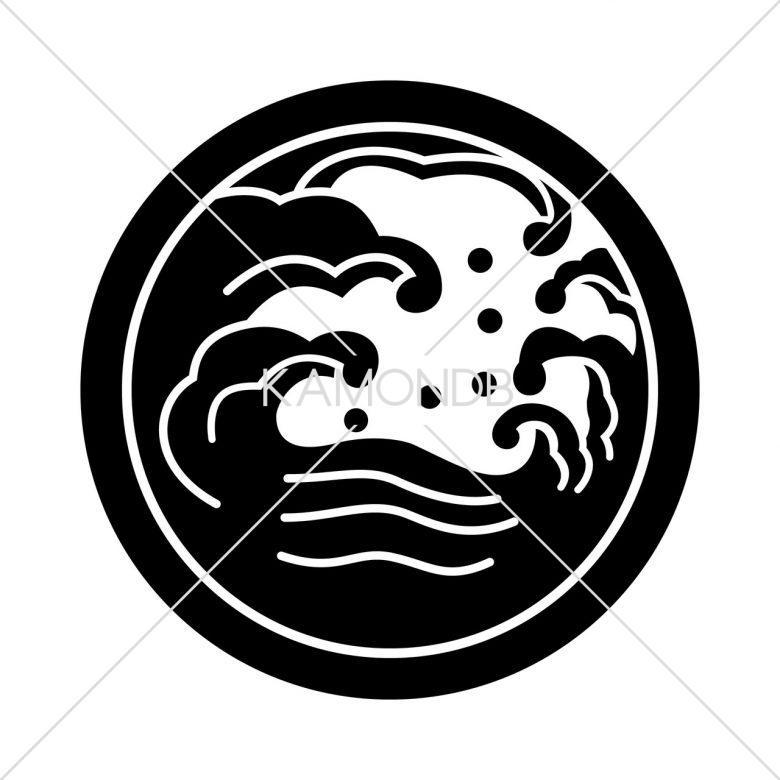 中輪に波の丸