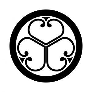 丸に中陰三つ葵