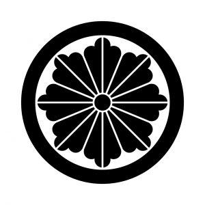丸に麻の花