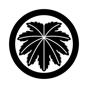 丸に真向き麻の葉