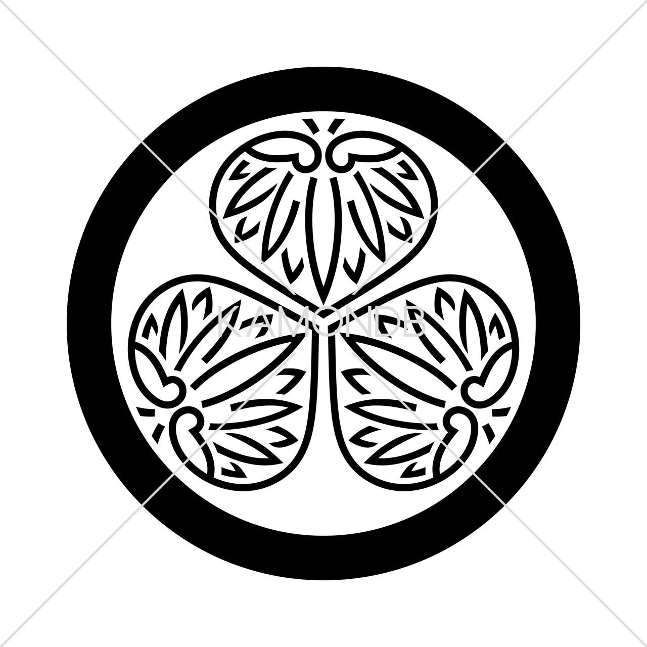 丸に陰三つ葵